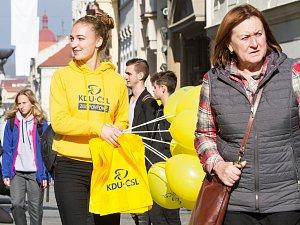 Volební stánky v Plzni