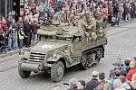Rekonstrukce příjezdu amerických vojáků do Plzně