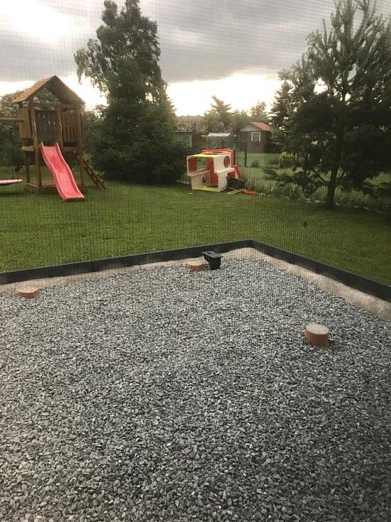 Úterní bouře v Plzeňském kraji.
