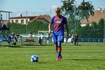ROBERT AUBRECHT (na snímku) chytil v letošní sezoně střeleckou fazonu. Na svém kontě má již sedm branek v dresu Viktorie Plzeň U19.