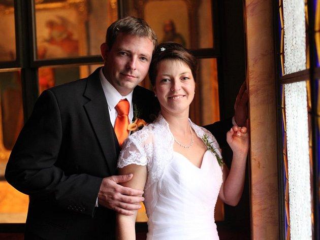 č. 40: Lucie a Miloslav Otcovi, Blovice. Svatba: 4. října 2014