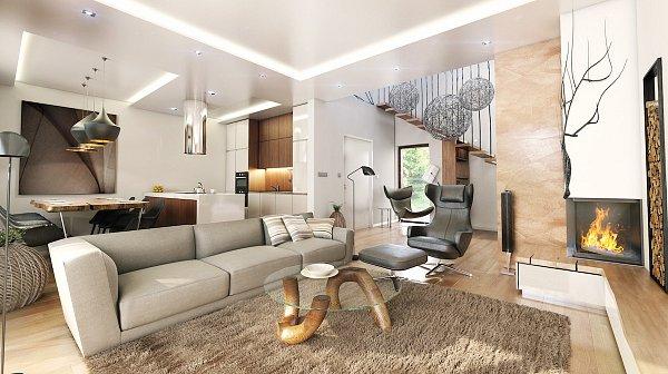 Návrh interiéru jedné zluxusních vil