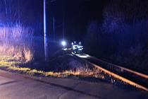 Rychlík srazil v pondělí večer u Chlumčan ženu. Na místě zemřela