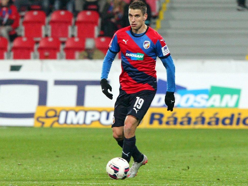 Druhý gól Viktorie v zápase proti Legii Varšava vstřelil Jan Kovařík.