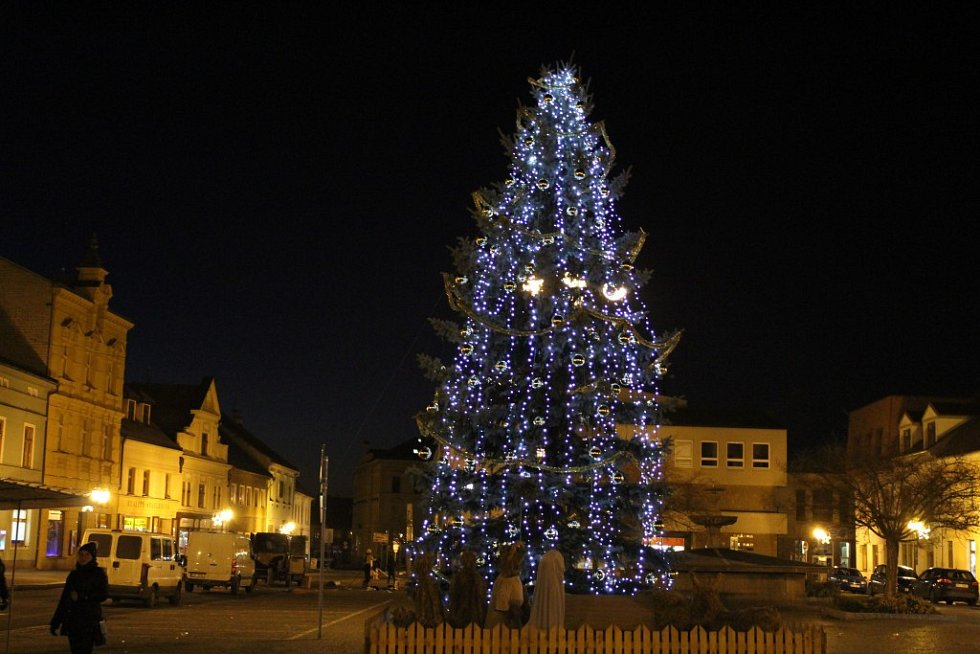 Vánoční strom v Rokycanech