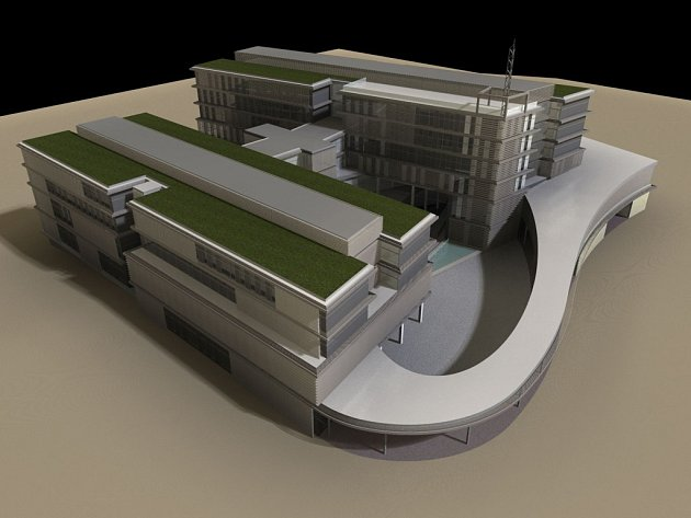 Náhled budovy evropského centra excelence Fakulty aplikovaných věd ZČU v Plzni
