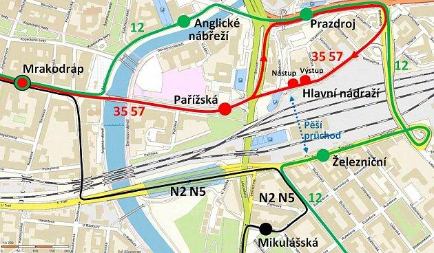 Objízdné trasy MHD