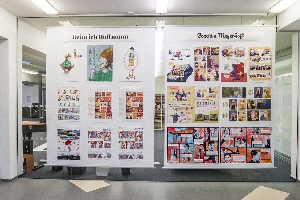 Výstava komiksů s názvem Texty pro otrlejší aneb tatínek psychiatr v Univerzitní knihovně ZČU