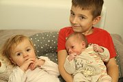 Štěpánka Čejková se narodila 12. prosince v 1:36 mamince Jaroslavě a tatínkovi Ondřejovi z Tymákova. Po příchodu na svět v plzeňské FN vážila sestřička šestnáctiměsíční Elišky a šestiletého Pavlíka 2720 g a měřila 47 cm.