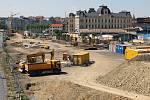 Rekonstrukce hlavního nádraží v Plzni.