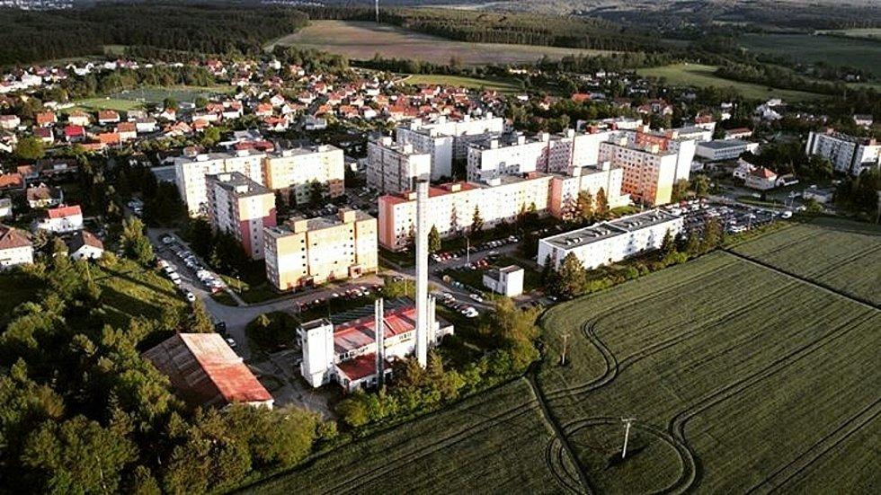 Pohled na dolní část města.