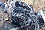 Havárie osobního auta u Chlumčan