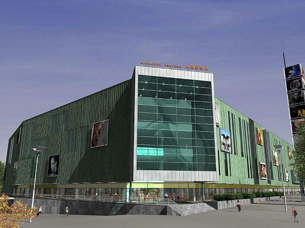 Jeden znávrhů obchodního centra Aréna
