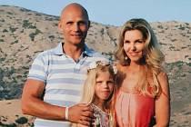 Tomáš Heřman s manželkou Lenkou a s dcerou Lenkou.