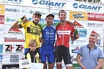V patnáctém dějství Giant ligy, GP Indigoprint, zvítězil Martin Hebík (uprostřed) před Martinem Boubalem (vlevo) a Michalem Keslem.