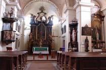 Prostory farního kostela sv. Máří Magdalény