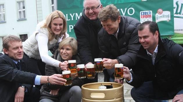 Pivo pro olympiádu v Soči opustilo v úterý brány Plzeňského Prazdroje