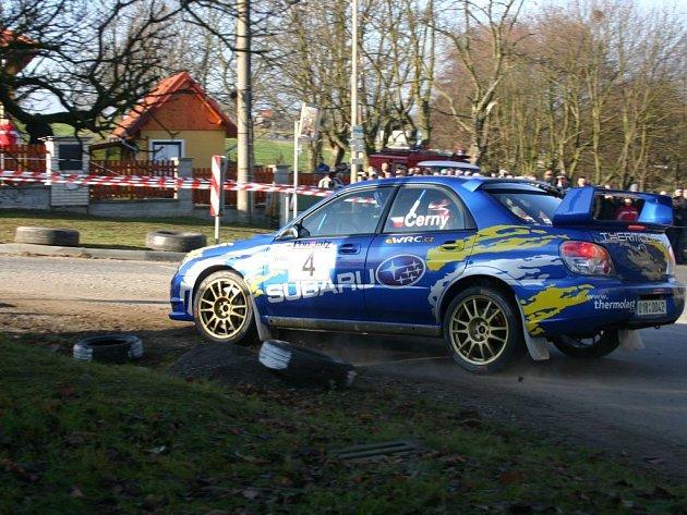 Posádka vozu Subaru Impreza Sti 12B Jan Černý, Pavel Kouhout (na snímku) byla nejrychlejší při víkendové Rallye Pongratz, která se jela na severním Plzeňsku a Rokycansku.