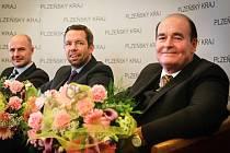 Do Dvorany slávy Plzeňského kraje byli nově uvedeni (zleva): Josef Bernard, Pavel Horváth a Boris Kreuzberg.