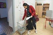 Volby do Evropského parlamentu v Plzni v konzervatoři v Tylově ulici