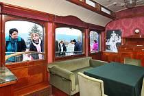 Otevření centra v Plasích doprovodil historický vlak. Na snímku salonní vůz arcivévody Františka Ferdinanda d'Este