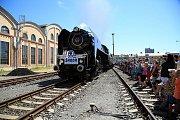 V areálu Škodovky se budete moci projet vlakem s parní lokomotivou.