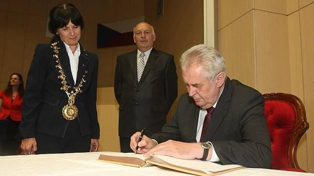 Prezident Miloš Zeman na ZČU
