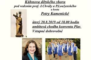 Benefiční koncert Kühnova dětského sboru plakát