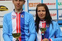 Jan Rajchart  (vlevo)  a Tereza Vališová si  vyzkoušeli,  jaké to je závodit za národní tým
