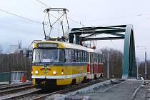 Nová tramvajová trať na Borská pole.