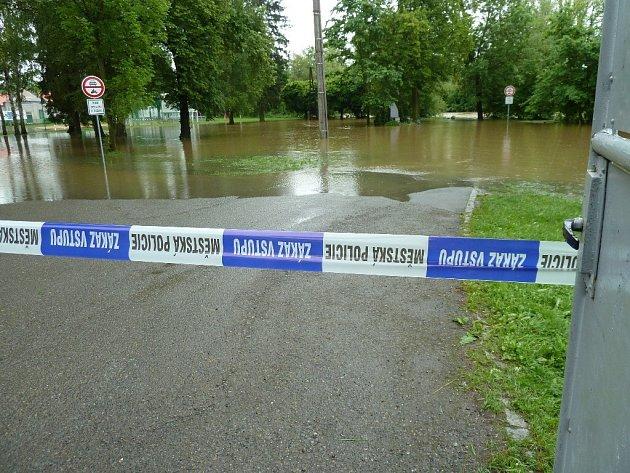 Povodeň v Plzni-Božkově