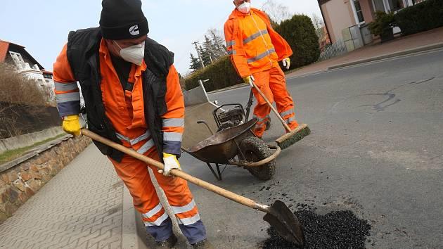 Zbiroh - opravy zimou zničené silnice
