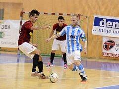 Pátý zápas semifinále play off VARTA futsal ligy mezi Interobalem Plzeň a Spartou Praha.