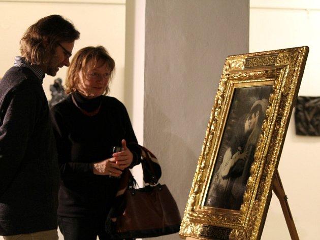 Návštěvníci Masných krámů obdivovali nový přírůstek Západočeské galerie v Plzni, dílo Gabriela von Maxe