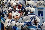 Radost panovala u hokejbalistů Plzně (na archivním snímku), kteří porazili Hostivař 4:3.