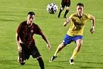 2. kolo ČFL (skupina A): FC Písek vs. Jiskra Domažlice (červení). Foto: Deník/Jan Škrle