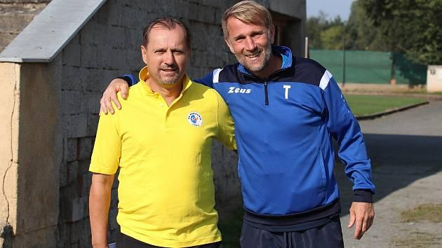 Když trénoval Martin Pulpit (vlevo) v roce 2004 Plzeň, snažil se zrestartovat hráčskou kariéru Pavla Vaigla.