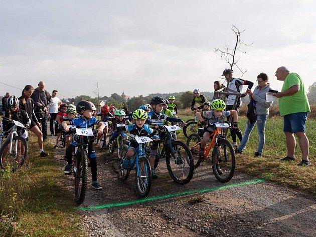 Nový závod Berounka trails si užili jezdci  na horských kolech od těch nejmenších (na snímku) až po ty zkušené.