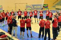 Česká házenkářská reprezentace zahájila v pátek v Plzni finální přípravu na MS v Kataru.
