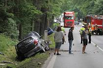 Hromadná dopravní nehoda u Horní Břízy