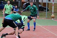 Národní házená 1. liga Plzeň Újezd x Žatec.