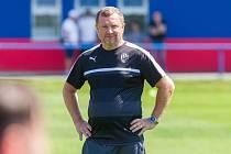 První trénink FC Viktorie Plzeň s trenérem Pavlem Vrbou