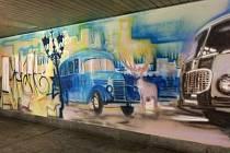 Podchod Centrálního autobusového nádraží září barvami