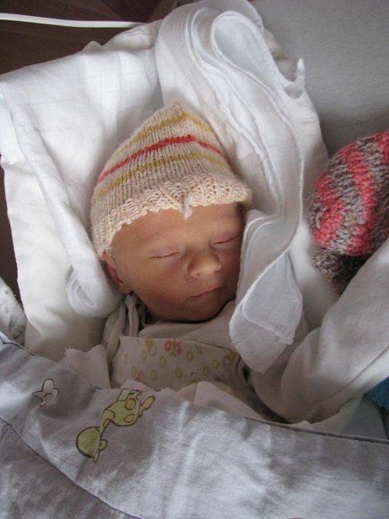 Maminka Lenka Pešková a tatínek Tomáš Pešek z Plzně se radují za narození Davida (2,72 kg, 49 cm). Jejich prvorozený syn přišel na svět 17. listopadu v 11:54 ve Fakultní nemocnici v Plzni