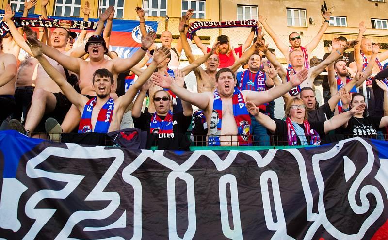 Fanoušci plzeňské Viktorie se nakonec radovali z hubeného vítězství 1:0.