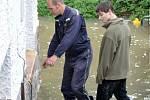 Povodeň v Plzni v Doudlevcích