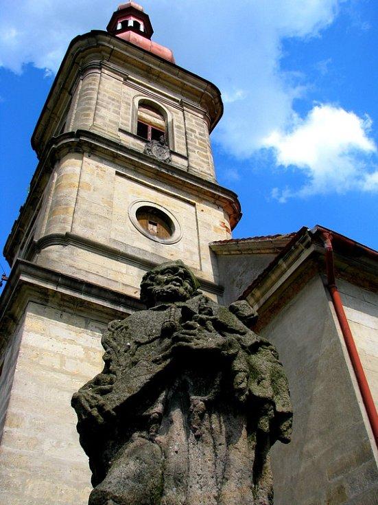 Kostel svatého Václava v Číhané.