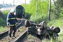 Tragická nehoda na přejezdu v Přešticích-Zastávce