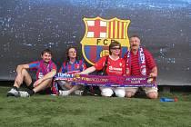 Fanoušci Viktorie Plzeň v Barceloně