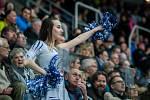 Utkání 51. kola Tipsport extraligy ledního hokeje se odehrálo 2. března v liberecké Home Credit areně. Utkaly se celky Bílí Tygři Liberec a HC Škoda Plzeň. Na snímku je roztleskávačka Tigers Cats.